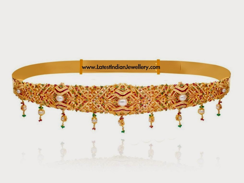 South Indian Gold Vaddanam Design