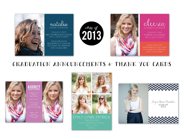 graduation announcements in the shop (via Holly Would)