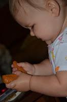 Alice studin' a chicken' wing