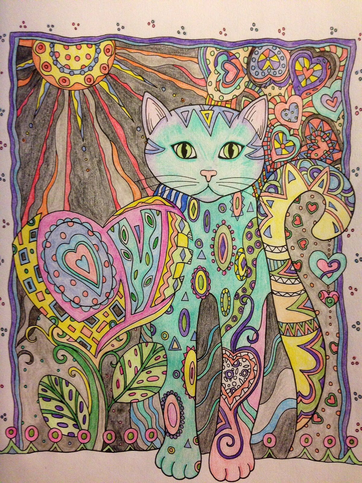zen colouring cats : I Continue To Engage In Some Zen Coloring Ridiculously Soothing No Wonder I Was So Happy In Kindergarten Well Except The Time I Got Hold Of Some