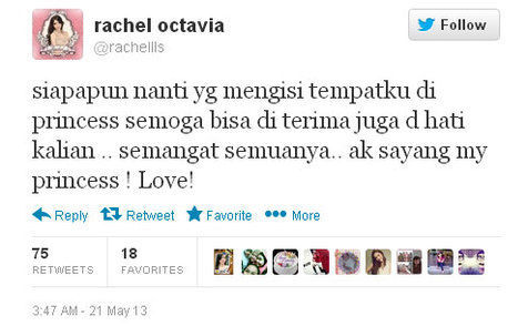 Twitter akun resmi rachel octavia