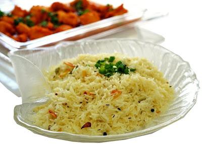 أرز باسمتى بالبهارات والثوم للشيف أسامة