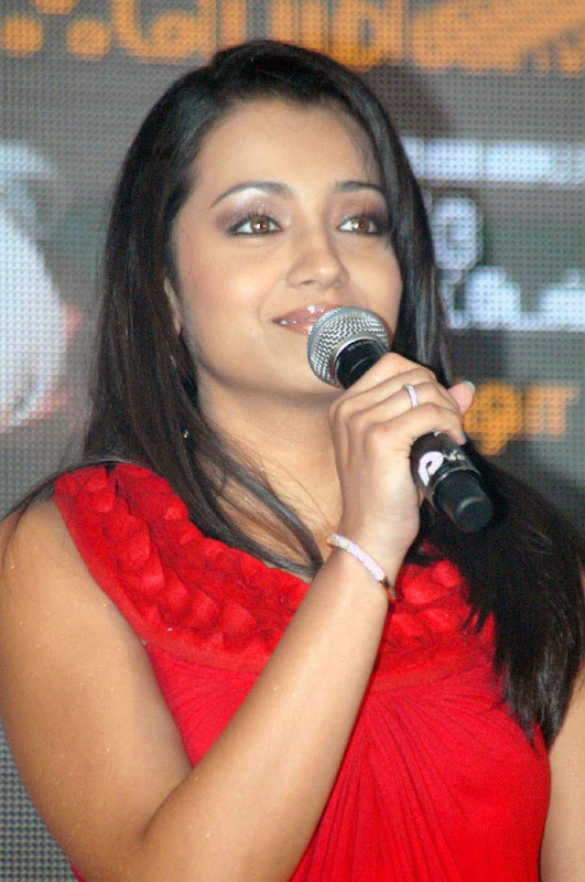 Trisha Latest Hot Photos in Red Dress unseen pics