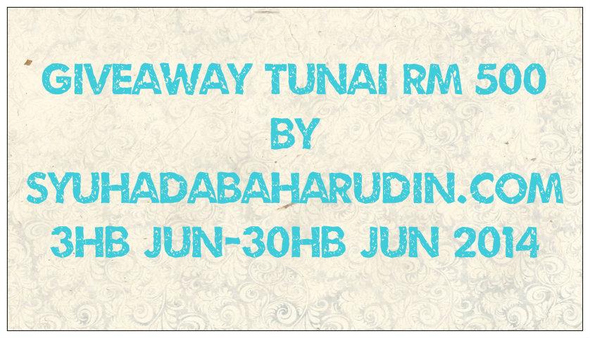 Giveaway Tunai RM500