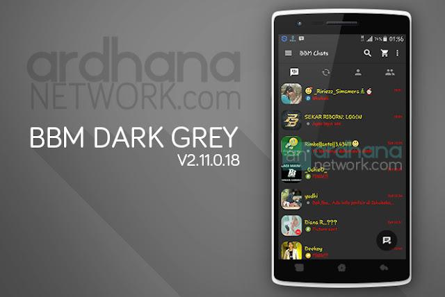 BBM Dark Grey Standart - BBM Android V2.11.0.18