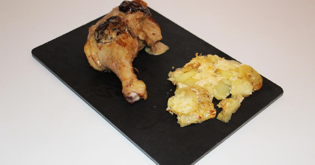 Flo en cuisine cuisses de canard aux pruneaux et cognac - Comment cuisiner des cuisses de canard fraiches ...