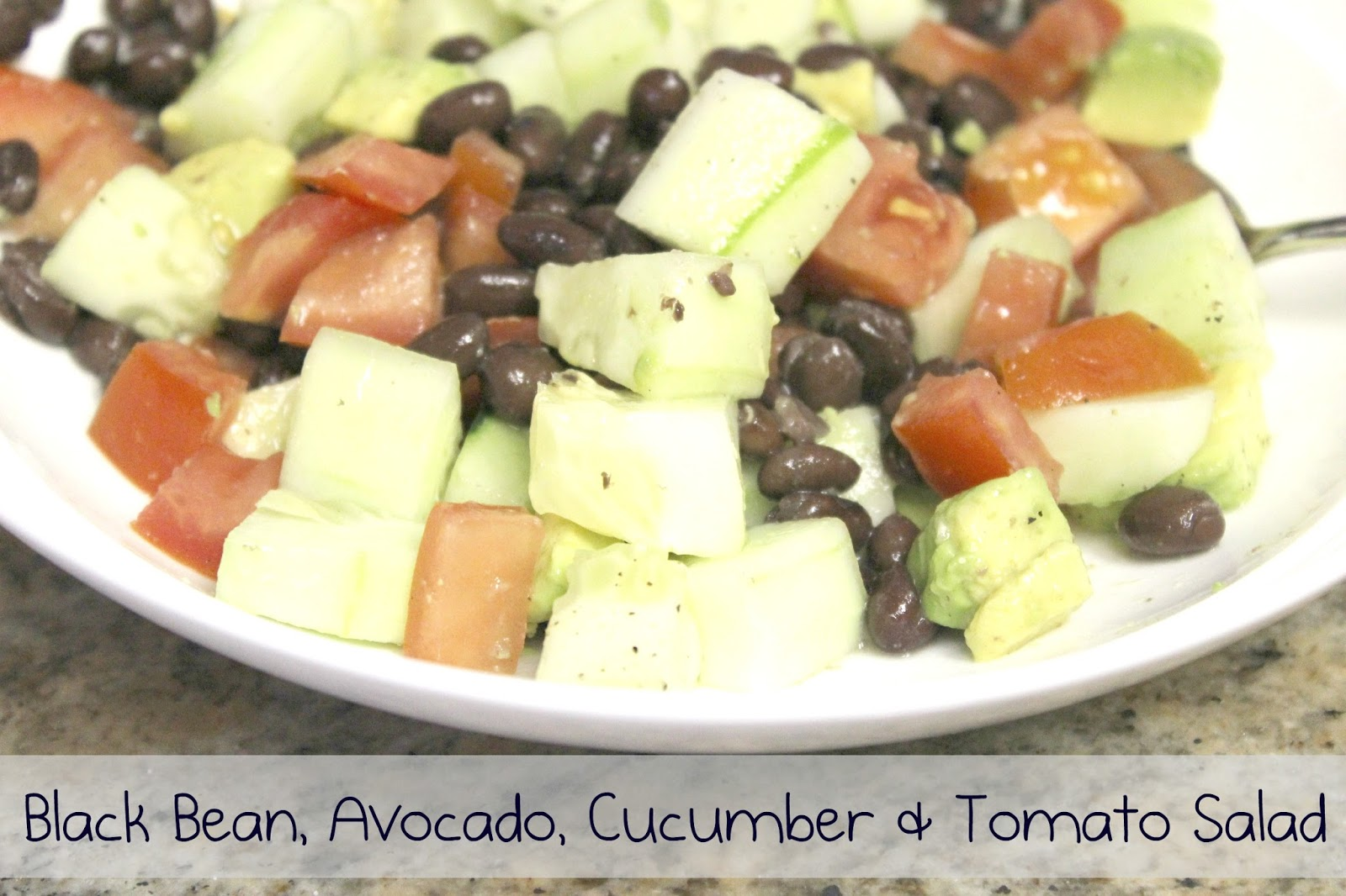 simply made with love: Black Bean, Avocado, Cucumber and Tomato Salad
