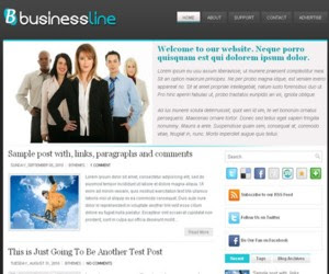 BusinessLine Blogger Template
