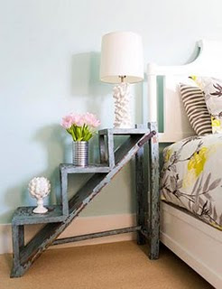 Beau Shabby Chic And Stylish! Rescue An Old Ladder To Make Your Own Unique Side  Table. Charming Chic!