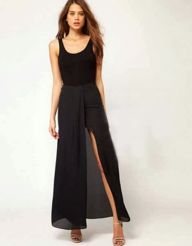 Special Elegant and easy open fork chiffon Maxi Dresses
