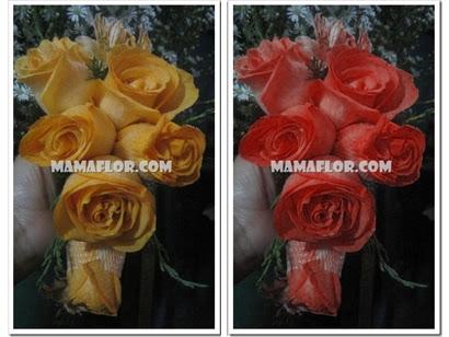 Como hacer un ramo de flores para novia manualidades - Como secar un ramo de rosas ...