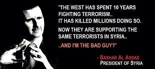Afbeeldingsresultaat voor president assad noemt de VS Frankrijk etc de bezetter
