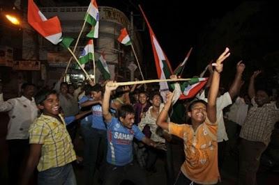 India's fan celebrating