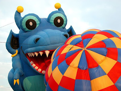 Special Shape Balloon Blue Dragon