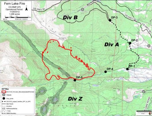 Rocky Mountain Journal Fern Lake Fire Grows to 1500 Acres