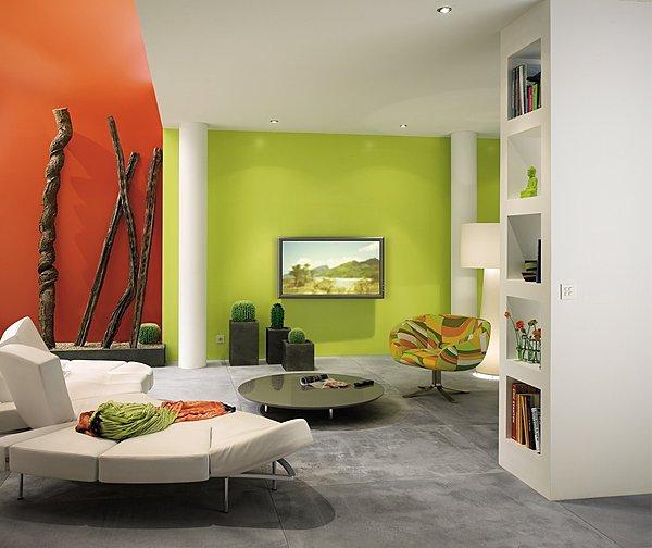 Peindre un mur en couleur conseils de pro site maison - Peindre un pan de mur en couleur ...
