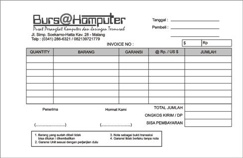 Contoh Invoice Perusahaan Ekspedisi Contoh Z