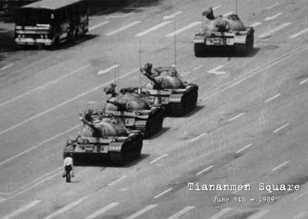 Tiananmen Square Tank Chinese student