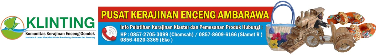 Pusat Kerajinan Eceng Gondok Ambarawa ~ Klinting