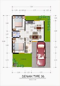 Denah Rumah Type 36 Terbaru 2014