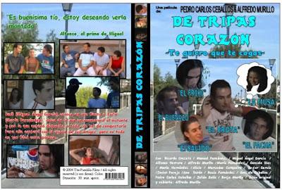 Cover, dvd. caratula:De tripas corazón | 1985