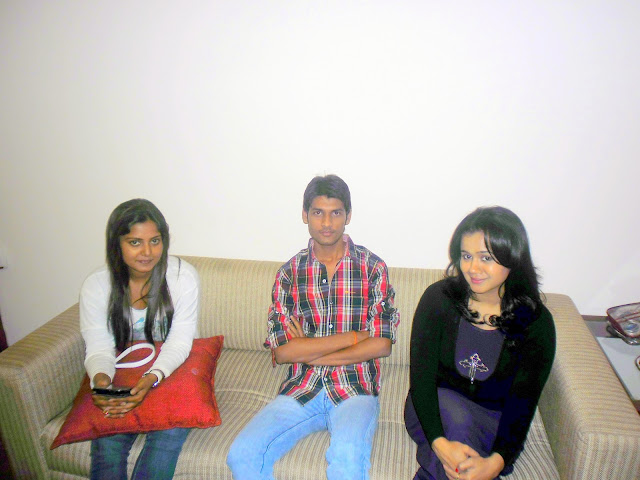 Anshu Dikshant with Bhojpuri Actress Anjana Singh and Gunjan Pant