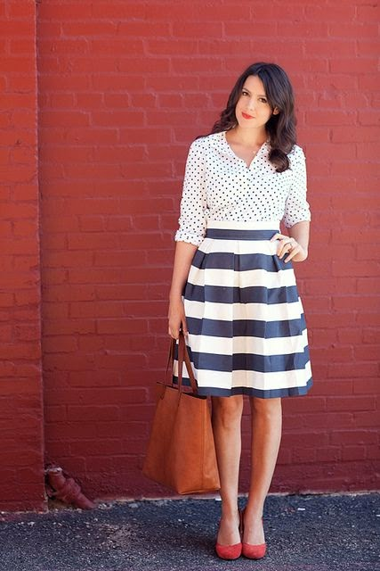 polka dots + stripes. Classic never dies & does not need any age to fit in