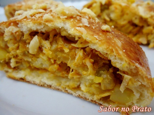 Um pão recheado delicioso e muito fácil de fazer.