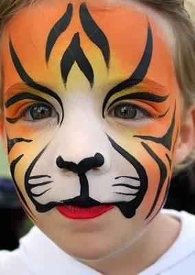 Pintar la cara de tigre