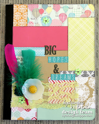 Altered Notebook_Hot Pink Feather_Everyday Eclectic_Heather Landry