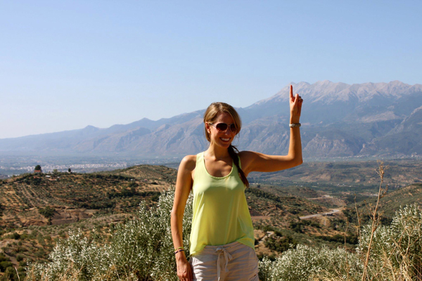 Where we hiked in Sparta, Greece (victory!)