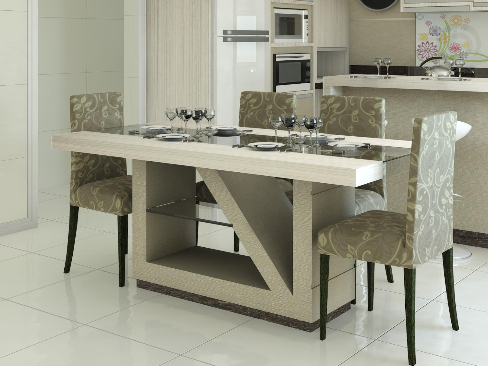 solução para o seu espaço.: Mesa com 6 cadeiras e detalhe em vidro #585340 1600 1200
