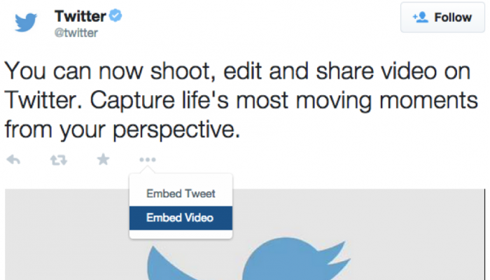 Embed Twitter videos