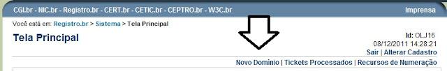Quarto passo para fazer um registro de dominio - registro.br