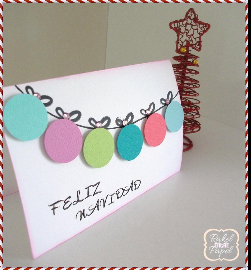 Raquel entre papel tutorial tarjeta de navidad f cil y - Tarjetas de navidad faciles ...