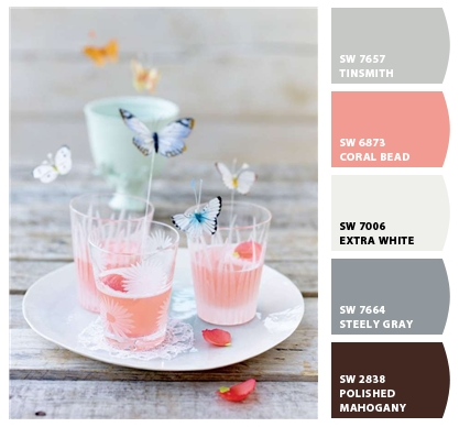 Rhubarb+and+Poppy+Drink+Color+Palette+by+Chip+It Butterflies and Spring Pastel Decor Inspiration
