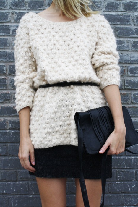 fall trend 2012: chunky knit sweater