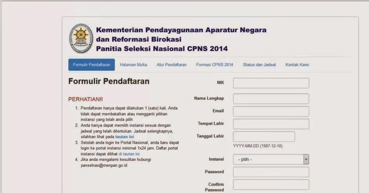Tidak Ada Pendaftaran Via Pos