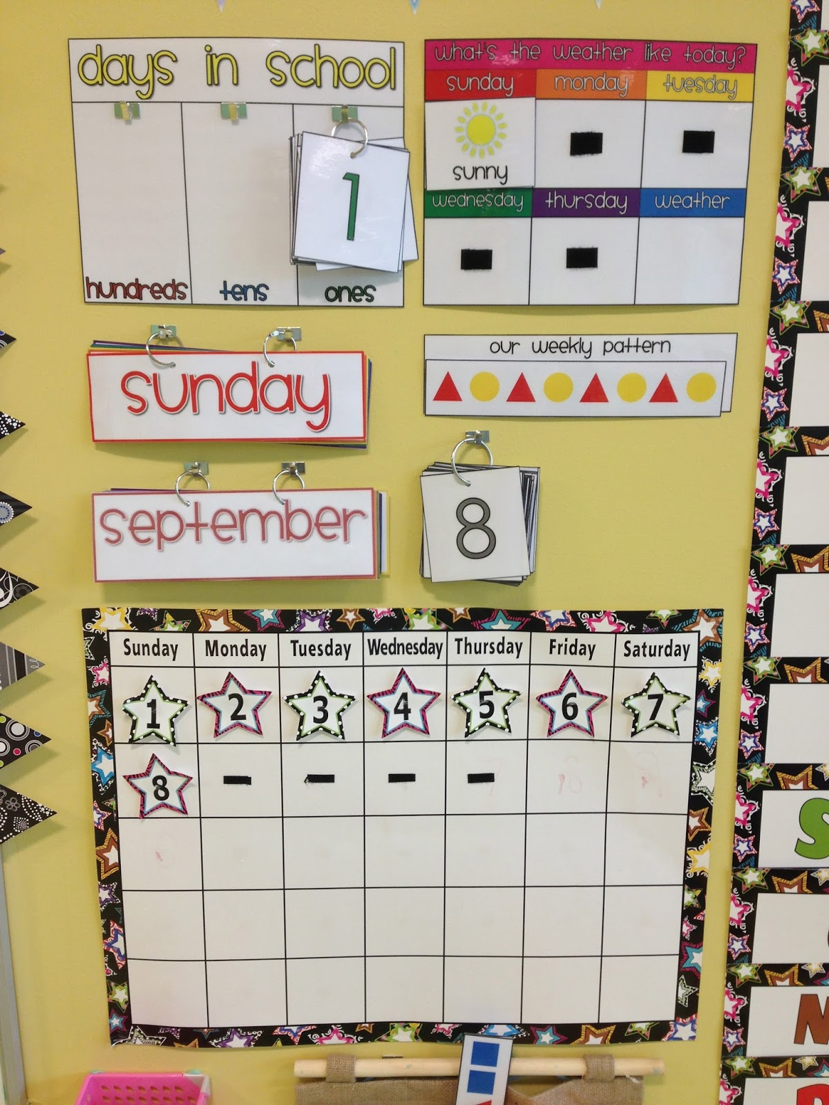 Kindergarten Calendar Wall : First week of school chicka boom and class