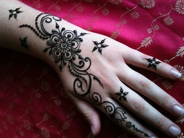Mehndi Easy Design : Bridal mehndi designs easy for hands latest