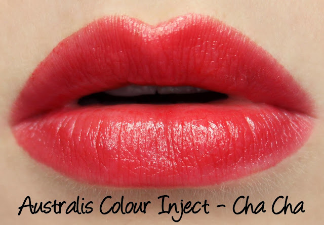 Australis Colour Inject Mineral Lipsticks - Cha Cha Swatches & Review