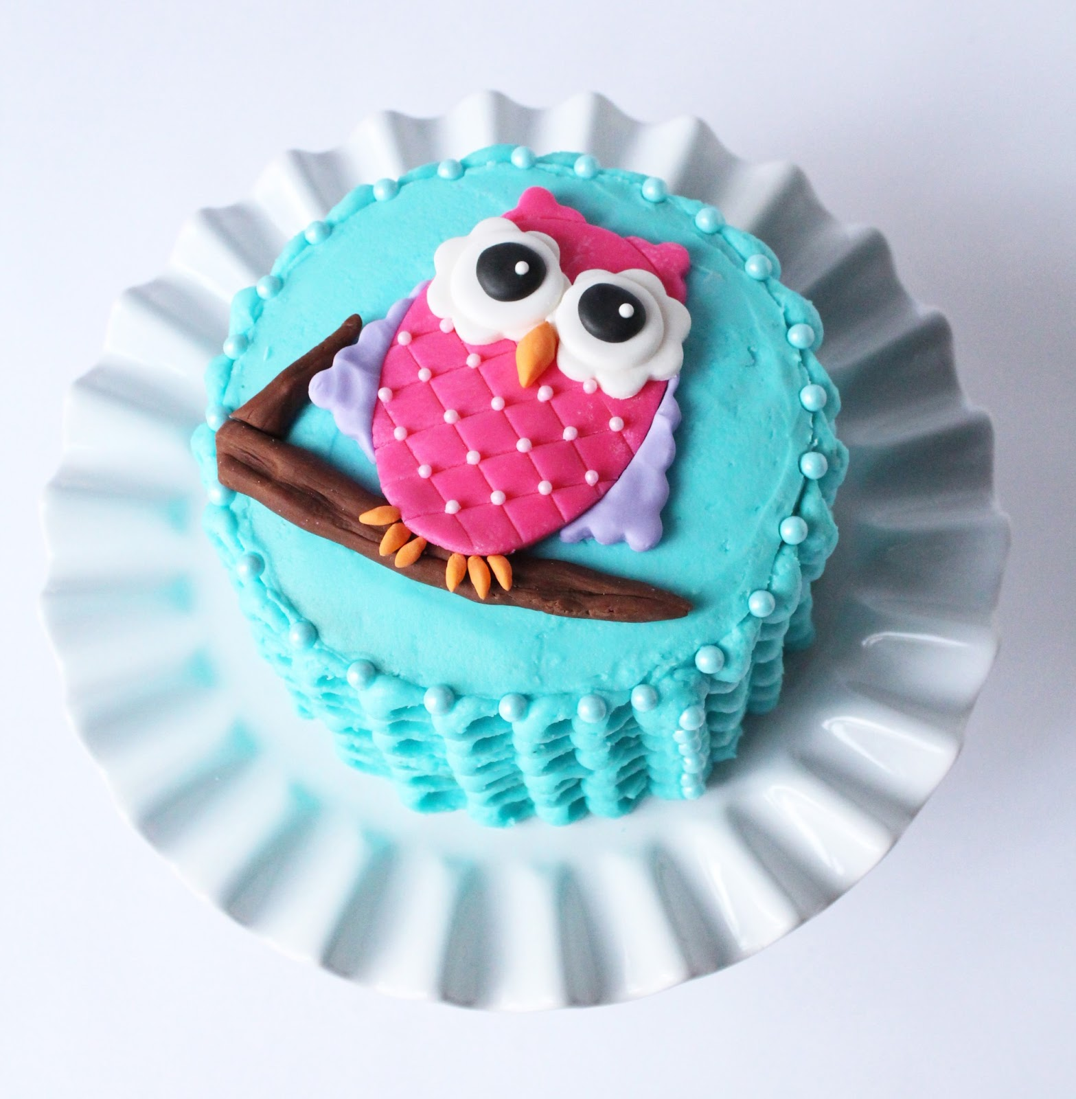 Owl Birthday Smash Cake