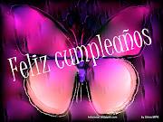tarjetas feliz cumpleaños regalos virtuales afectuoso y tierno de mariposas . (imagenes de mariposas de colores azules)