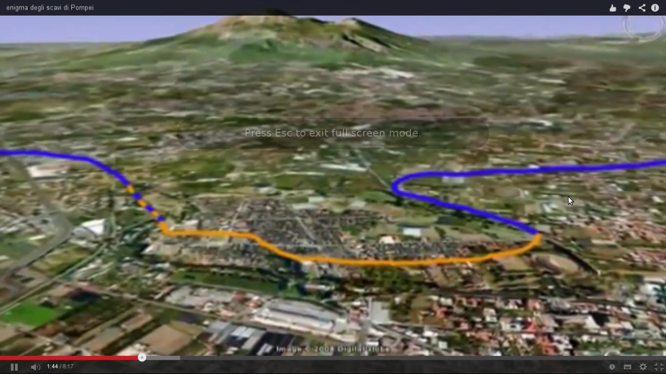 Pompei, direzione canale di Sarno