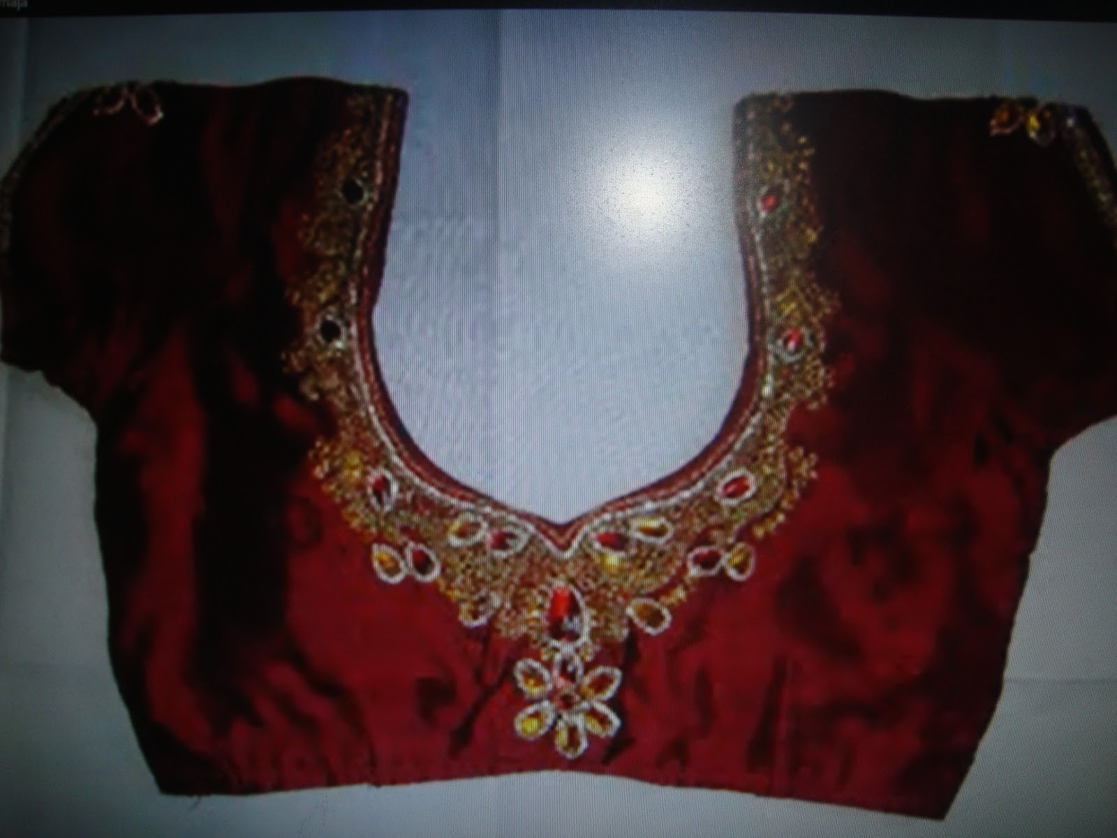 Machine Embroidery Designer Blouses 53