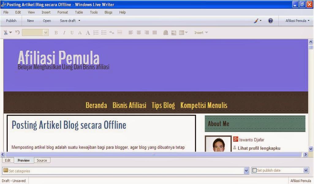 Windows Live Writer Posting Blog