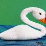 patron gratis cisne amigurumi de punto, free knit amigurumi pattern swan