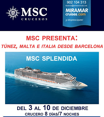mejor oferta de crucero para túnez, malta e italia