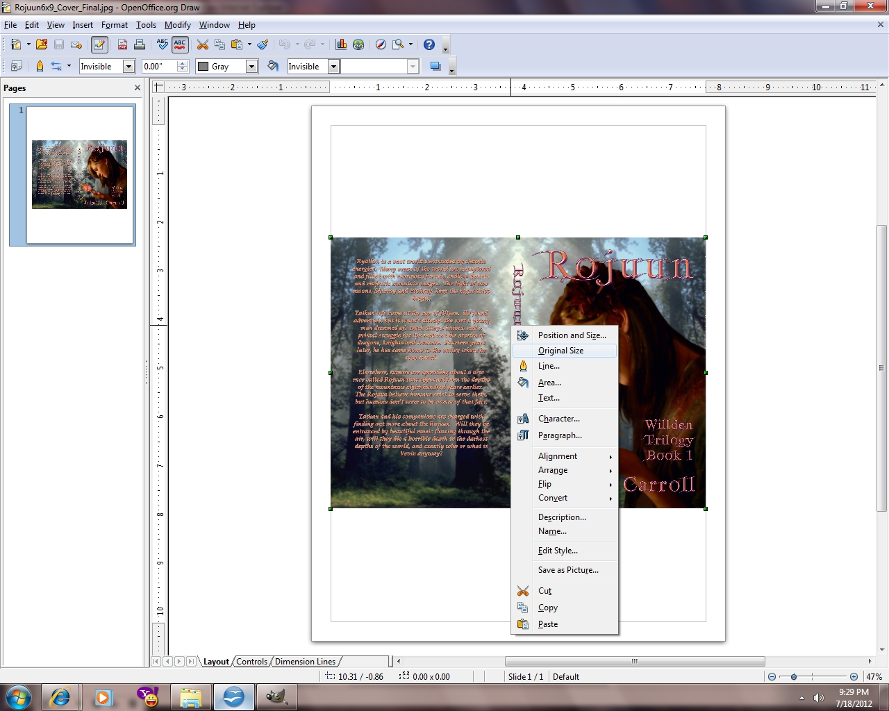 The World of Ryallon: Converting a book cover for Createspace from ...