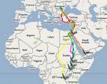 ONLINE TÉRKÉP: itt követhető nyomon a jeladós békászó sasok vándorlása